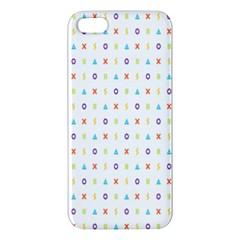 Sign Pattern iPhone 5S/ SE Premium Hardshell Case