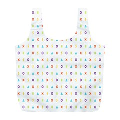 Sign Pattern Full Print Recycle Bags (L)