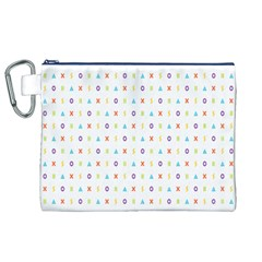 Sign Pattern Canvas Cosmetic Bag (xl)