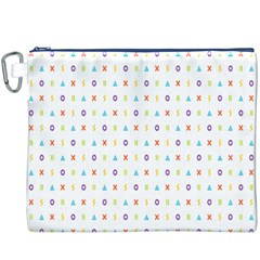 Sign Pattern Canvas Cosmetic Bag (XXXL)