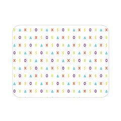 Sign Pattern Double Sided Flano Blanket (Mini)