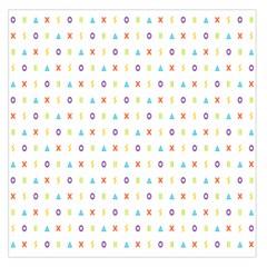 Sign Pattern Large Satin Scarf (Square)