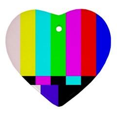 Color Bars & Tones Ornament (Heart)