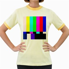 Color Bars & Tones Women s Fitted Ringer T-Shirts