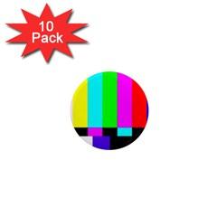Color Bars & Tones 1  Mini Magnet (10 Pack)