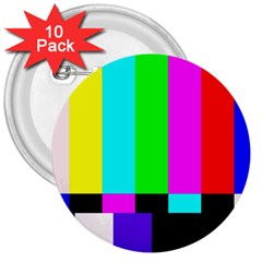 Color Bars & Tones 3  Buttons (10 pack)
