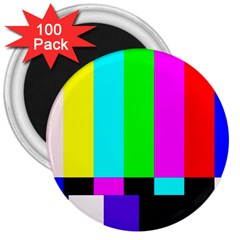 Color Bars & Tones 3  Magnets (100 Pack)