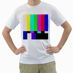Color Bars & Tones Men s T-Shirt (White) (Two Sided)