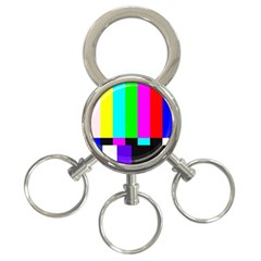 Color Bars & Tones 3 Ring Key Chains