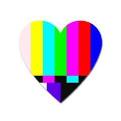 Color Bars & Tones Heart Magnet