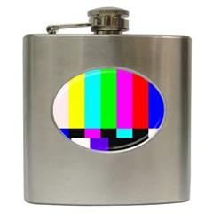Color Bars & Tones Hip Flask (6 oz)