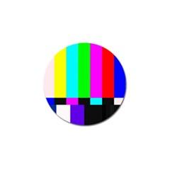 Color Bars & Tones Golf Ball Marker