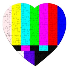 Color Bars & Tones Jigsaw Puzzle (Heart)