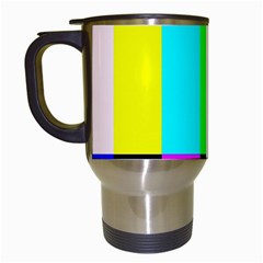 Color Bars & Tones Travel Mugs (White)