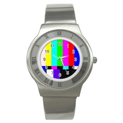 Color Bars & Tones Stainless Steel Watch