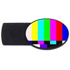 Color Bars & Tones Usb Flash Drive Oval (4 Gb)