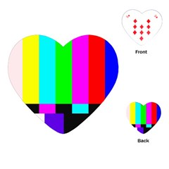 Color Bars & Tones Playing Cards (Heart)