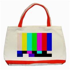Color Bars & Tones Classic Tote Bag (red)