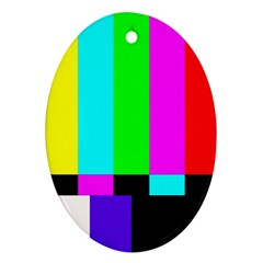 Color Bars & Tones Oval Ornament (Two Sides)