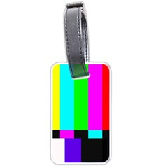 Color Bars & Tones Luggage Tags (one Side)