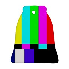 Color Bars & Tones Bell Ornament (Two Sides)
