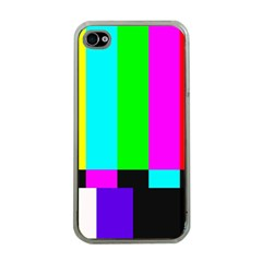 Color Bars & Tones Apple iPhone 4 Case (Clear)
