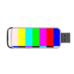 Color Bars & Tones Portable Usb Flash (two Sides)