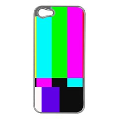 Color Bars & Tones Apple iPhone 5 Case (Silver)