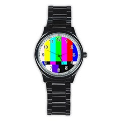 Color Bars & Tones Stainless Steel Round Watch