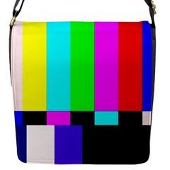 Color Bars & Tones Flap Messenger Bag (S)
