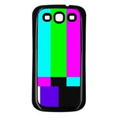 Color Bars & Tones Samsung Galaxy S3 Back Case (Black)
