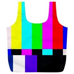 Color Bars & Tones Full Print Recycle Bags (l)
