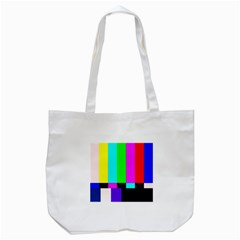 Color Bars & Tones Tote Bag (White)
