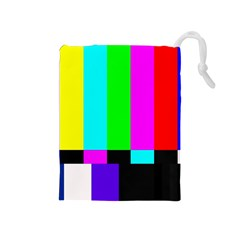 Color Bars & Tones Drawstring Pouches (medium)