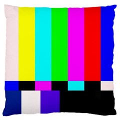 Color Bars & Tones Large Flano Cushion Case (One Side)