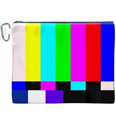 Color Bars & Tones Canvas Cosmetic Bag (XXXL)