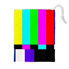 Color Bars & Tones Drawstring Pouches (Extra Large)