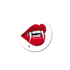 Mouth Jaw Teeth Vampire Blood Golf Ball Marker (4 Pack)