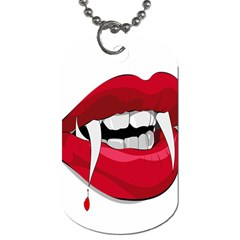 Mouth Jaw Teeth Vampire Blood Dog Tag (two Sides)