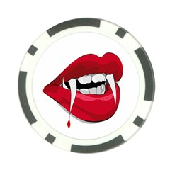 Mouth Jaw Teeth Vampire Blood Poker Chip Card Guard