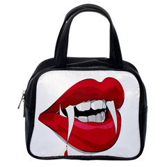 Mouth Jaw Teeth Vampire Blood Classic Handbags (One Side)