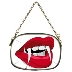 Mouth Jaw Teeth Vampire Blood Chain Purses (two Sides)