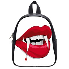 Mouth Jaw Teeth Vampire Blood School Bags (small)