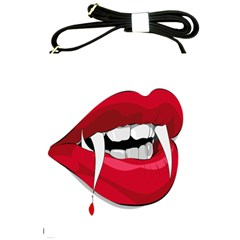 Mouth Jaw Teeth Vampire Blood Shoulder Sling Bags