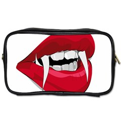 Mouth Jaw Teeth Vampire Blood Toiletries Bags