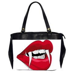 Mouth Jaw Teeth Vampire Blood Office Handbags (2 Sides)