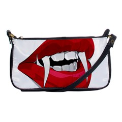 Mouth Jaw Teeth Vampire Blood Shoulder Clutch Bags