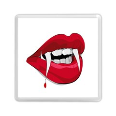 Mouth Jaw Teeth Vampire Blood Memory Card Reader (square)