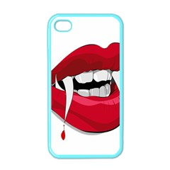 Mouth Jaw Teeth Vampire Blood Apple iPhone 4 Case (Color)