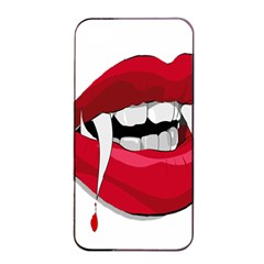 Mouth Jaw Teeth Vampire Blood Apple iPhone 4/4s Seamless Case (Black)
